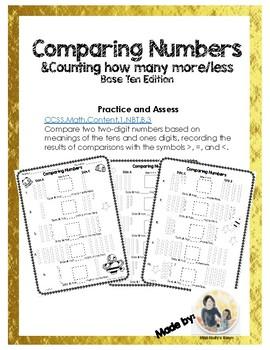 Comparing Numbers, Base Ten 1.NBT.B3