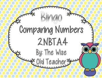 Comparing Numbers Bingo PPT with Blank Bingo Card & Bonus