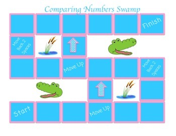 Comparing Numbers Board Game