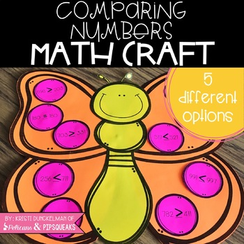Comparing Numbers Butterfly Math Craft