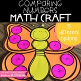 Spring Comparing Numbers Butterfly Math Craft