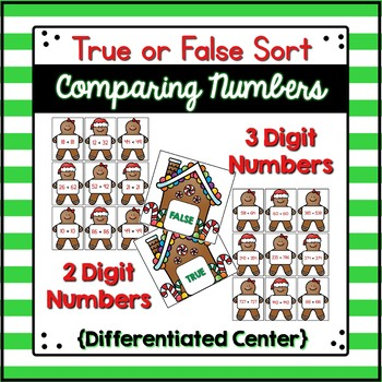Comparing Numbers Center {Gingerbread Edition}