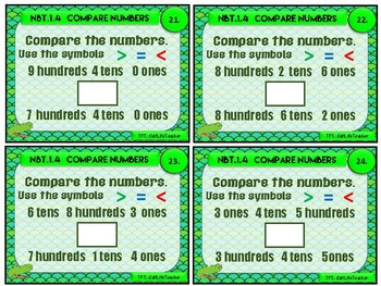 Comparing Numbers Chomp Task Cards NBT.1.4