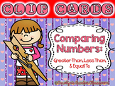 Comparing Numbers Clip Cards - Valentine's Day Version (Greater, Less, Equal to)