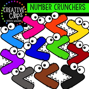 Comparing Numbers Clipart Bundle {Creative Clips Clipart}