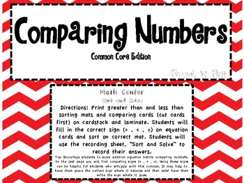 Comparing Numbers-  Common Core Edition
