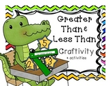 Comparing Numbers {Craftivity} Using Greater Than & Less Than