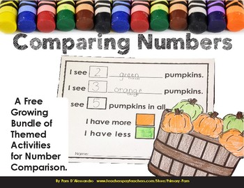 Comparing Numbers Craftivity - I Have More I Have Less