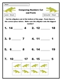 Comparing Numbers Cut and Paste Alligator Activity