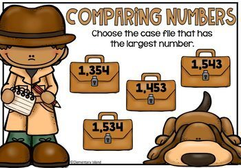 Comparing Numbers Task Cards Digital BOOM Cards DIFFERENTIATED Bundle