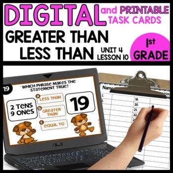 Comparing Numbers | DIGITAL TASK CARDS | PRINTABLE TASK CARDS