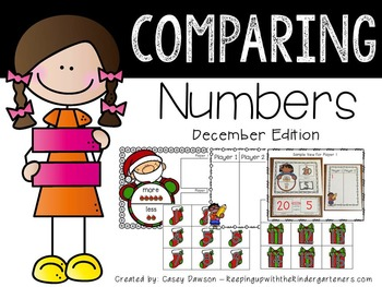 Comparing Numbers December Edition (Common Core and Texas TEKS Aligned)