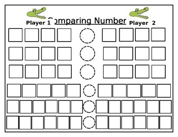Comparing Numbers Dice Game
