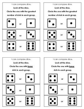 Kindergarten Comparing Numbers Differentiated Math Journals