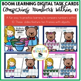 Comparing Numbers Task Cards Within 10 Boom Digital Slides