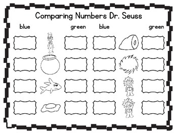 Comparing Numbers Dr. Seuss 3-15
