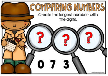 Comparing Numbers Task Cards Digital BOOM Cards 2nd Enrichment