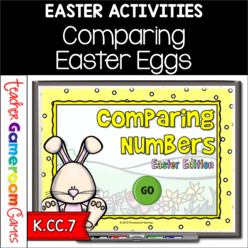 Comparing Numbers - Easter Edition - Teacher vs Student Po