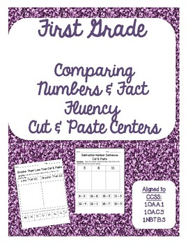 Comparing Numbers & Fact Fluency Cut & Pastes