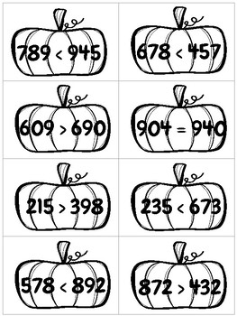Comparing Numbers Fall Ediition
