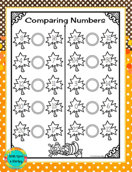 Comparing Numbers - Fall Theme