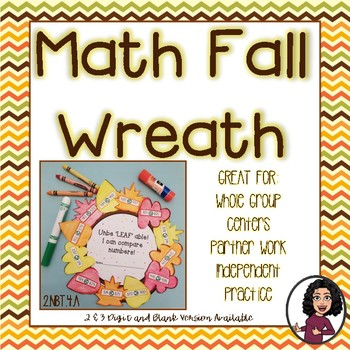 Comparing Numbers Fall Wreath Activity