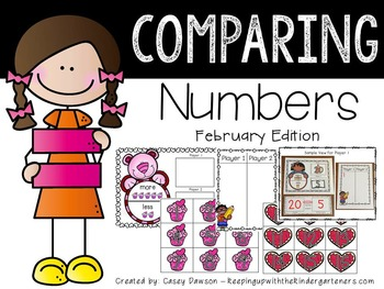 Comparing Numbers February Edition (Common Core and Texas TEKS Aligned)