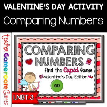 Comparing Numbers - Find the Cupid PPT Game - Valentine's