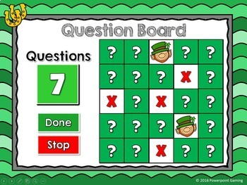 Comparing Numbers - Find the Leprechaun PPT Game - St. Patrick's Day