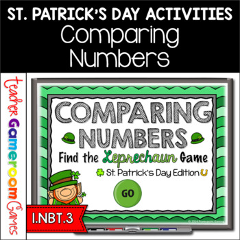 Comparing Numbers - Find the Leprechaun PPT Game - St. Pat