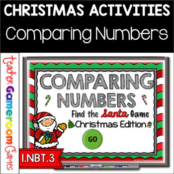 Comparing Numbers - Find the Santa PPT Game - Christmas Edition