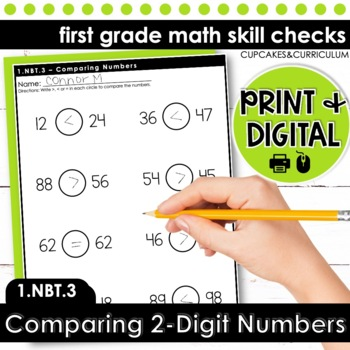Comparing Numbers - First Grade Print and Go