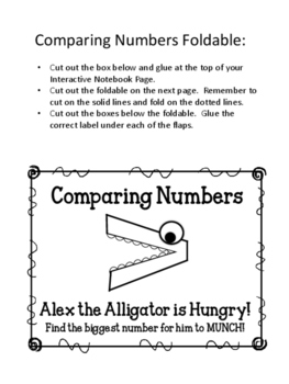 Comparing Numbers Foldable. Greater Than. Less Than. Interactive Notebook