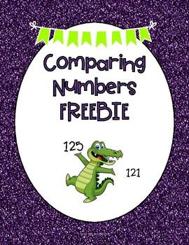 Comparing Numbers Freebie