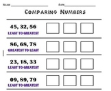 Comparing Numbers- G to L, L to G
