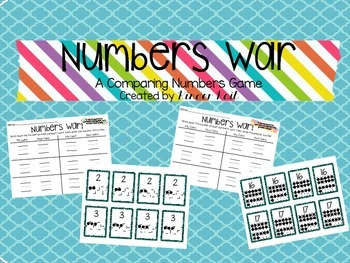 Comparing Numbers Game: Numbers War