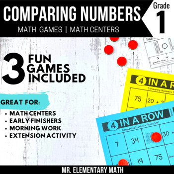Comparing Numbers Games and Centers 1st Grade