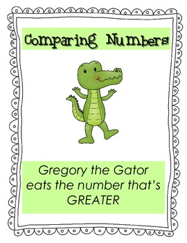 Comparing Numbers Gator Poster