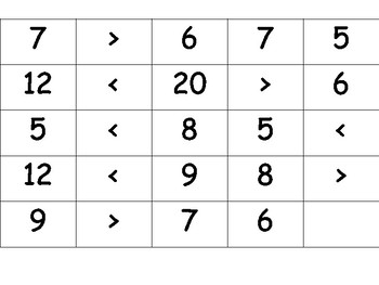 Comparing Numbers/Greater-Less Than