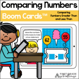 Comparing Numbers | Greater Than Less Than BOOM CARDS
