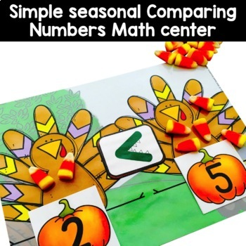 Comparing Numbers: Greater Than, Less Than, Equal - Turkey Game (KCC6, KCC7)
