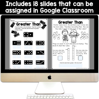 Kindergarten Comparing Numbers: Greater Than, Less Than, Equal (KCC6, KCC7)