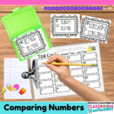 4th Grade Math: Comparing Numbers Task Cards: Math Centers