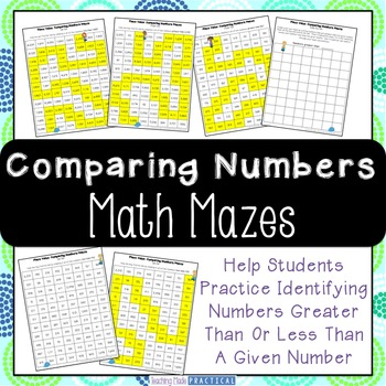 Comparing Numbers - Greater Than Less Than Mazes