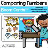Comparing Numbers Greater Than Less Than True False BOOM CARDS