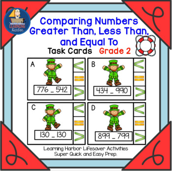 Comparing Numbers Greater Than, Less Than, and Equal To   Task Cards