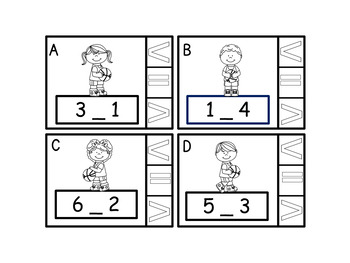 Comparing Numbers Greater Than, Less Than and Equal To  Task Cards Grade K