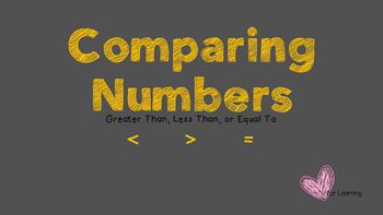 Comparing Numbers.  Greater Than, Less Than, or Equal To