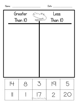 Comparing Numbers:  Greater Than and Less Than