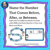 Board Game Math Center Find The Number Before, After, or Between Given Numbers